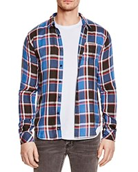 Rails Lennox Plaid Regular Fit Button Down Shirt Blue Red Black