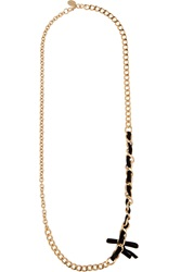 Red Valentino Gold Tone Necklace Metallic