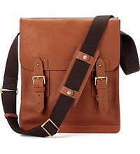 Aspinal Of London Shadow Leather Messenger Bag Tan