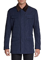 Hickey Freeman Quilted Barn Jacket Navy