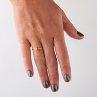 Gfg Jewellery Lara Citrine Single Ring Gold Yellow Orange