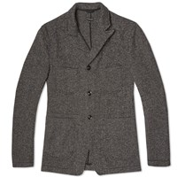 Engineered Garments Bedford Jacket Grey Wool Tweed