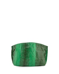 Beirn Small Python Cosmetic Pouch Green