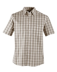 Double Two Check Classic Fit Classic Collar Shirt Brown