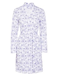 John Lewis Stitch Floral Robe White Blue