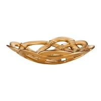 Kosta Boda Basket Bowl Large Gold