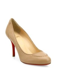 Christian Louboutin Marpelissimo Twisted Leather Pumps Nude