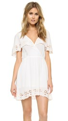 Minkpink White Shadows Dress Off White