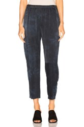 Raquel Allegra Relaxed Silk Pants In Blue Ombre And Tie Dye Blue Ombre And Tie Dye