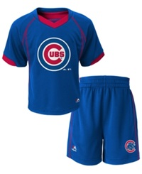 Majestic Babies' Chicago Cubs Shirt And Shorts Set