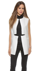 Finders Keepers Change Your Mind Vest Pinstripe White