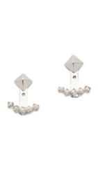 Jennifer Zeuner Jewelry Sylvia Pearl Earrings Silver