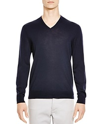 The Men's Store At Bloomingdale's V Neck Sweater True Navy