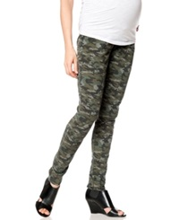 A Pea In The Pod Blank Nyc Maternity Camouflage Print Skinny Jeans Camolot Wash