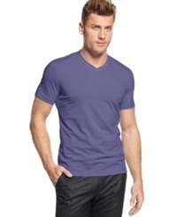 Alfani Red Fitted V Neck T Shirt Lush Lilac