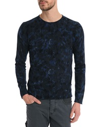 Ikks All Over Marbled Blue Sweater