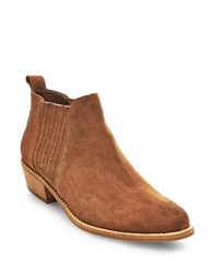 Steve Madden Tallie Leather Ankle Boots Cognac