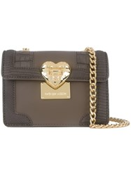 Love Moschino Gold Tone Hardware Crossbody Bag Grey