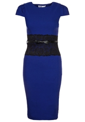 Paper Dolls Shift Dress Navy Dark Blue