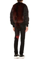 Givenchy Nylon Fox Fur Bomber In Black