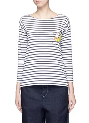 Chinti And Parker X Miffy 'Miffy Sailor' Stripe Cotton T Shirt Multi Colour