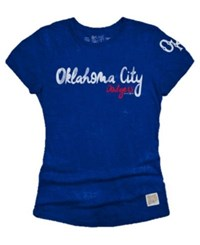 Retro Brand Women's Oklahoma City Dodgers Streaky Tri Blend T Shirt Royalblue