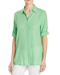 Chaus Roll Tab High Low Shirt Compare At 69 Serene Green