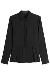 Steffen Schraut Blouse With Pleated Hemline Black