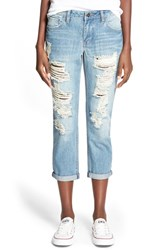 Junior Women's Lee Cooper Distressed Rolled Boyfriend Jeans Melrose