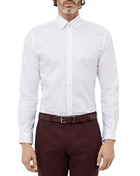 Ted Baker Floral Jacquard Regular Fit Button Down Shirt White