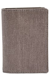 Men's Skagen 'Kvarter' Folding Card Case Grey Dark Heather Grey