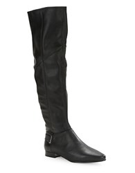 French Connection Cherie Leather Boots Black