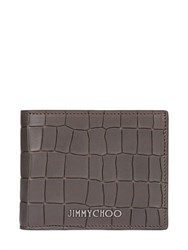 Jimmy Choo Crocodile Embossed Leather Wallet