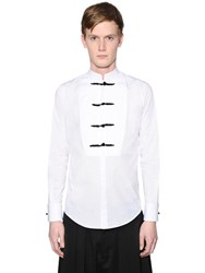 Dsquared Stretch Cotton Poplin Tuxedo Shirt
