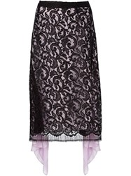 Tome Layered Lace Skirt Black