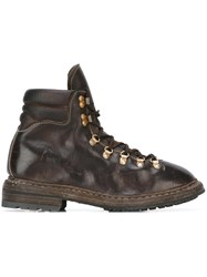 Guidi Distressed Hiking Style Boots Brown