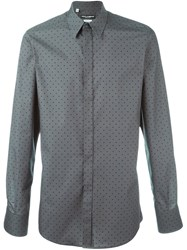 Dolce And Gabbana Polka Dot Print Shirt Green