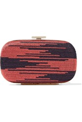 M Missoni Crochet Knit Clutch Pink