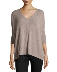 Christopher Fischer Cashmere Boxy 3 4 Sleeve V Neck Sweater Tuffet