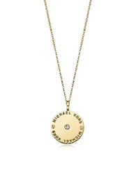 Michael Kors Heritage Signature Charm W Crystal Necklace