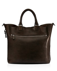 Shinola Pressed Essex Leather Tote Deep Brown