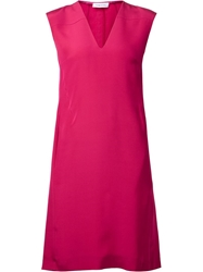 Cnc Costume National Costume National V Neck Shift Dress Pink And Purple