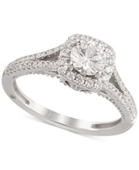 Marchesa Certified Diamond Engagement Ring 1 1 4 Ct. T.W. In 18K White Gold Only At Macy's