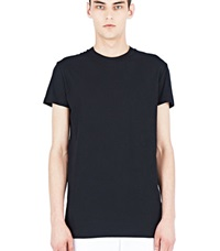 Aiezen Soft Cotton Crew Neck T Shirt Black