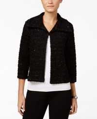 Jm Collection Petite Cropped Boucle Jacket Only At Macy's Deep Black