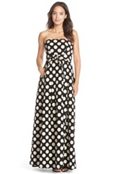 Tracy Reese Polka Dot Cotton Blend Ballgown Black