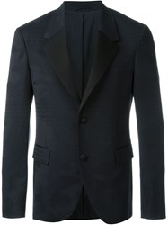 Neil Barrett Fitted Jacquard Blazer Blue
