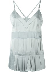 Maison Martin Margiela Maison Margiela Pleated Cami Top Blue