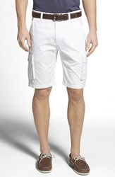 Men's Robert Graham 'Globe Trotter' Cargo Shorts White