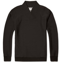 Sasquatchfabrix. Wa Neck Bonding Crew Sweat Black
